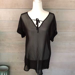 NWT Black Swimsuit Coverup